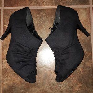 Sam & Libby Peep Toe Side Zip Heels